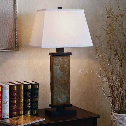 Copper Grove Papineau 29-inch Natural Slate Table Lamp