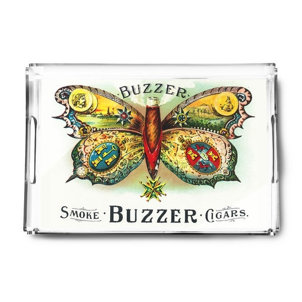 Buzzer Brand Cigar - Vintage Label (Acrylic Serving Tray)