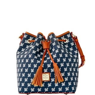 Dooney & Bourke MLB Brewers Drawstring (Introduced by Dooney & Bourke at $248 in Oct 2015) - Navy