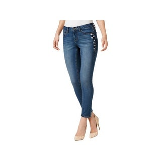 Earl Jean Womens Ankle Jeans Floral Skinny