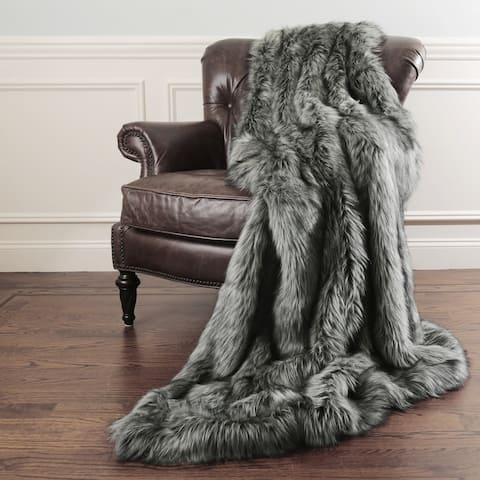 Aurora Home Faux Fur Throw Blankets by Wild Mannered