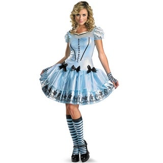 Disguise Disney Alice In Wonderland Sassy Blue Dress Alice Adult Costume