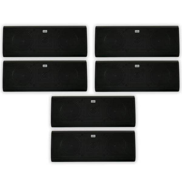 Acoustic Audio AA40CB Indoor 3 Way Speakers 3000W Black 3 Pair Pack AA40CB-3PR