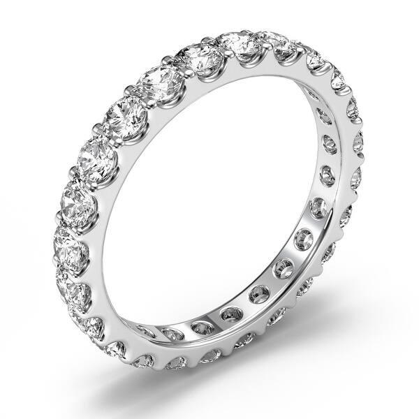 Shop Amcor Design 14kt White Gold 1 40 Ct Round Cut Shared Prong