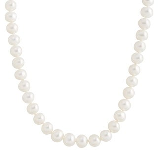 Classic 7 mm Freshwater Pearl Strand Necklace in 14K Gold