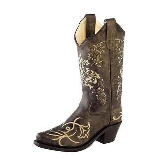 Old West Cowboy Boots Boys Girls Kids Snip Vintage Charcoal - vintage charcoal