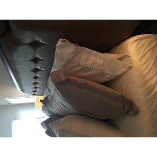 DOWNLITE Cotton Sateen 300 TC Firm Density Pillows (Set of 2) - White