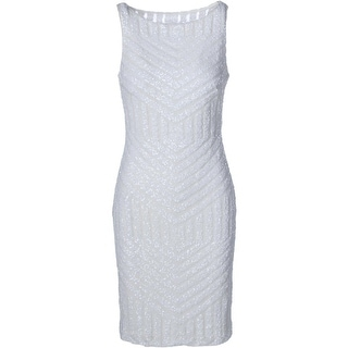 Lauren Ralph Lauren Womens Sequined Sleeveless Cocktail Dress - 8
