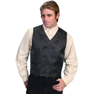 Scully Old West Vest Mens Double Breasted Formal Polyester Lined