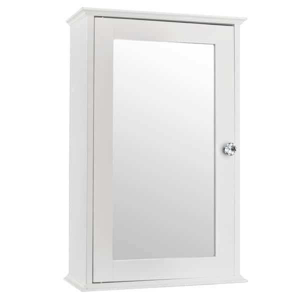 1/2-Door Modern Wood Bathroom Storage Wall Cabinet W/ Mirror - On Sale - Overstock - 23131609 - Single Door