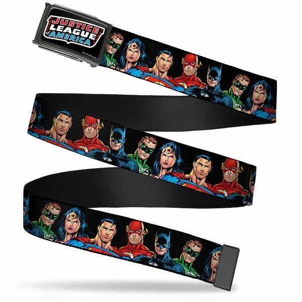 Justice League Of America Fcg Black Chrome Justice League Elite Forces Web Belt