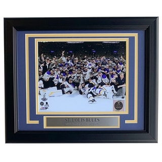 St Louis Blues Framed 8x10 Stanley Cup Champions Team Celebration Photo