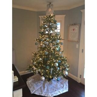 shop puleo international 75 pre lit aspen green fir tree free shipping today overstockcom 13254276