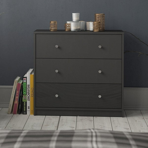 Porch & Den Zoe 3-drawer Engineer Wood Chest