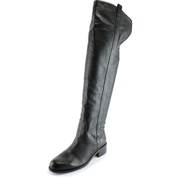 Delman Sofie Round Toe Leather Over the Knee Boot