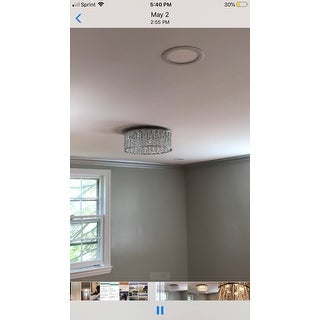 Collins Laser Cut Aluminum and Crystal LED Ceiling Light - Silver