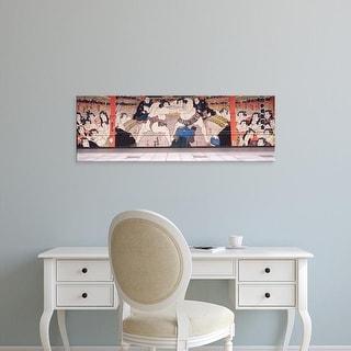 Easy Art Prints Panoramic Image 'Sumo wrestling, Sumida Ward, Tokyo Prefecture, Kanto Region, Honshu, Japan' Canvas Art