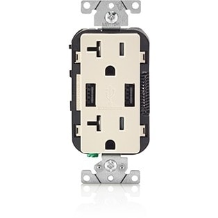 Leviton T5832-T Leviton Combination Devices - 120 V AC / 20 A Wall Mountable