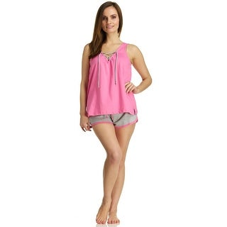 Rene Rofe Women's Tie Up Tank/Short Pajama Set