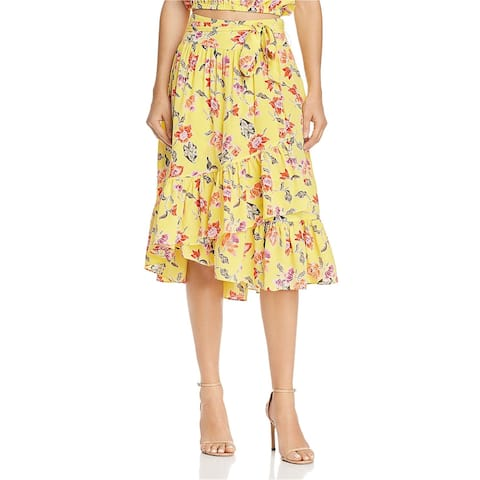 Joie Womens Hand Dyed A-line Skirt, yellow, 8