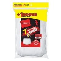 Hanes Boys' TAGLESS® White Briefs 7-Pack (Includes 1 Free Bonus Boxer Brief) - Size - XS - Color - White