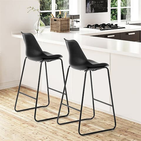 Furniture R Counter & Bar Stool Plastic Chair Top With PU Upholstery
