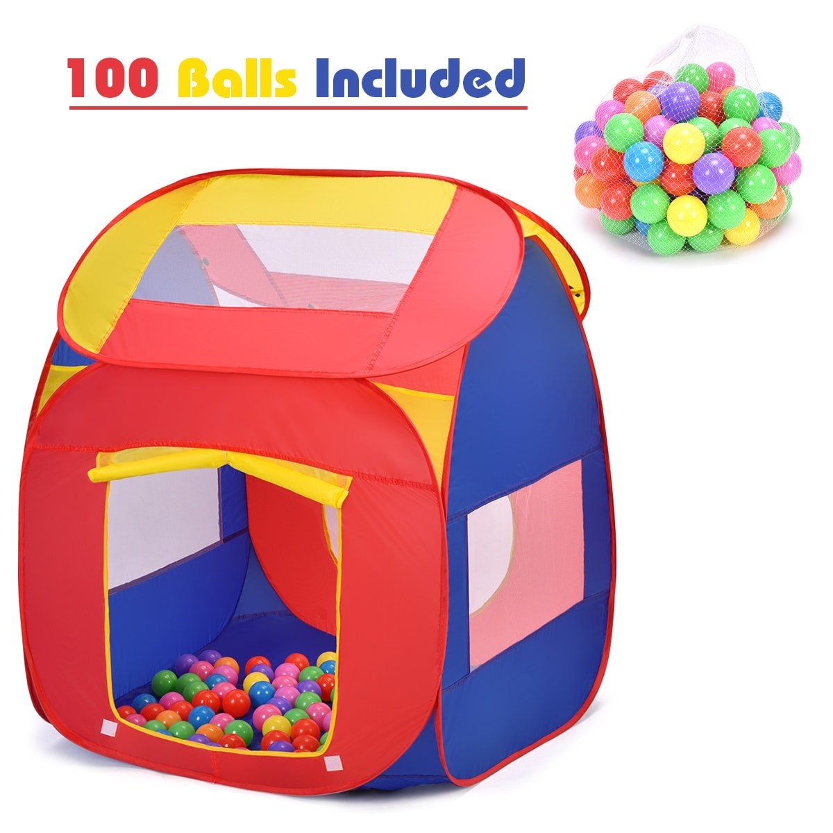 CubbyTime Fabric Play House Girls and Boys Fabric Tent Portable Play Based Learning Play House Washable Imaginative Play Foldable Kids Play Tent for Kids Indoor or Outdoor Canvas Children Fort