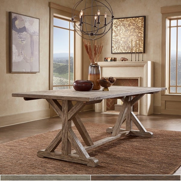 Paloma Antique Oak or Brown Reclaimed Wood Dining Table by iNSPIRE Q Artisan. Opens flyout.