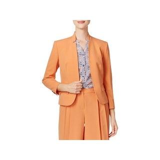 Nine West Womens Blazer Star-Collar 3/4 Sleeves