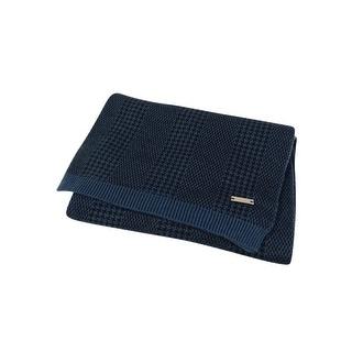 Ryan Seacrest Distinction Men's Glen Plaid Double Knit Scarf (Military Blue, OS) - military blue - os