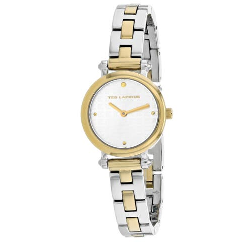 Ted Lapidus Women's Classic Silver / Gold Dial Watch - A0680BBPX - One Size