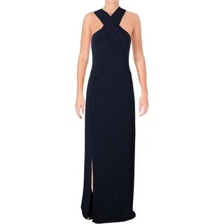 Lauren Ralph Lauren Womens Marbelle Formal Dress Criss-Cross Front Maxi