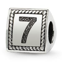 Sterling Silver Reflections Number 7 Triangle Block Bead (4mm Diameter Hole)