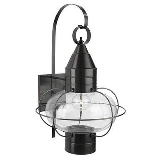 "Norwell Lighting 1509 Classic Onion Single Light 24"" Tall Outdoor Wall Sconce with Glass Shade"