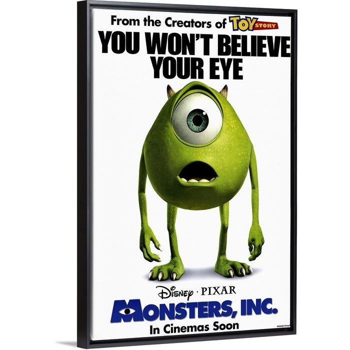 Shop Monsters Inc 2001 Black Float Frame Canvas Art Overstock 25498564