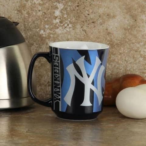 New York Yankees Mug Reflective Coffee Cup 11oz MLB Navy