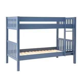 Offex Solid Wood Cottage Slat Bunk Bed - Blue