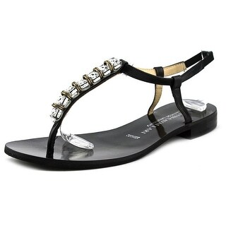 Chinese Laundry Kristin Cavallari Grace Women Leather Black Thong Sandal