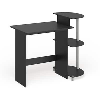 Porch & Den Baruch Compact Modern Wood Computer Desk with Shelves