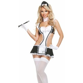 Upstairs Maid Bedroom Costume, French Maid Lingerie Costume - Black/White