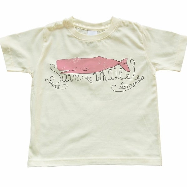 Toddler Save The Whales Design Light Yellow T-Shirt. Opens flyout.
