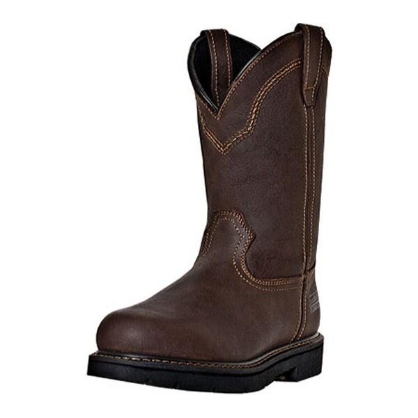 """McRae Industrial Work Boots Mens 11"""" Shaft Steel Toe Brown"""