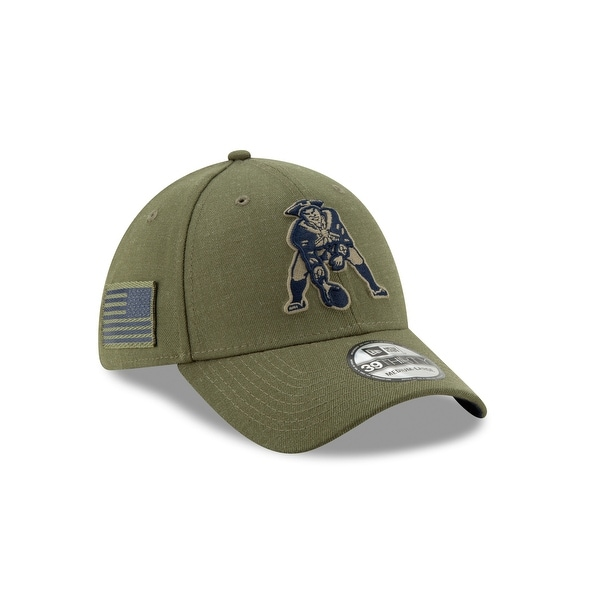 cddc3841805b5 New England Patriots Throwback 2018 OnField Salute to Service 39THIRTY Cap