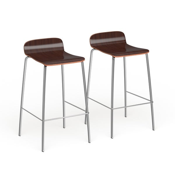 Carson Carrington Havdrup Contemporary Stackable Barstool (Set of 2). Opens flyout.