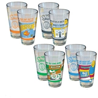 Simpsons Greetings From Springfeild 4 Pack Pint Glass
