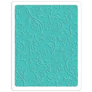Sizzix Textured Impressions Plus Embossing Folder-Botanical Swirls
