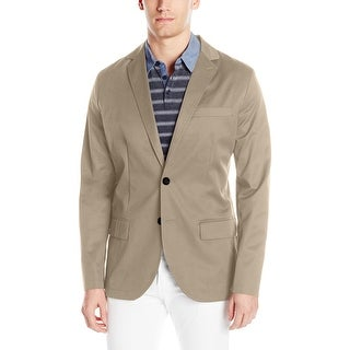 Nautica NEW Beachsand Beige Mens Size Large L Seamed Two Button Blazer