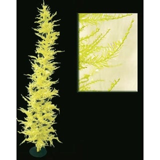 Whimsical Yellow Laser Artificial Christmas Tree 7'