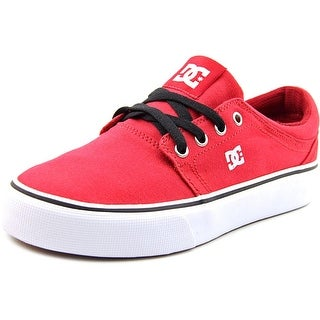 DC Shoes Trase TX Youth Round Toe Canvas Red Skate Shoe