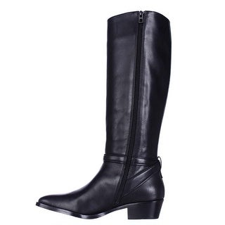 Coach Womens CAROLINE Leather Closed Toe Mid-Calf Riding Boots